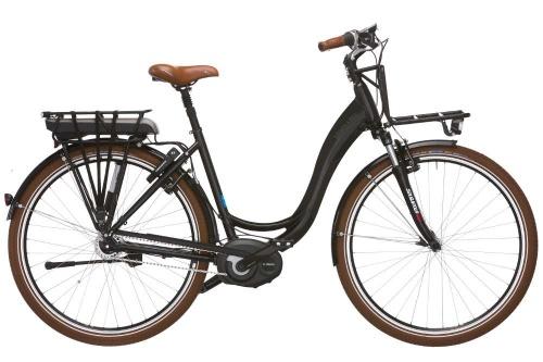 Vélo de ville : transport de courses et bagages à l'avant et à l'arrière